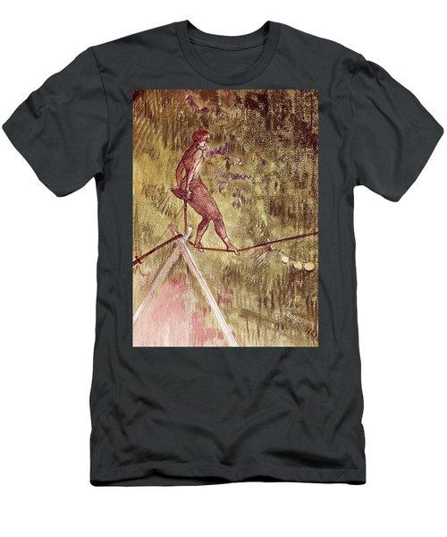 Acrobat On Tightrope Men's T-Shirt (Athletic Fit)