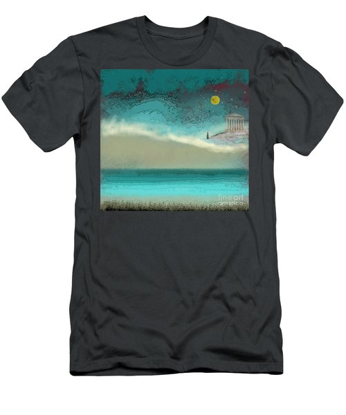 Acropolis In Moonlight Men's T-Shirt (Athletic Fit)