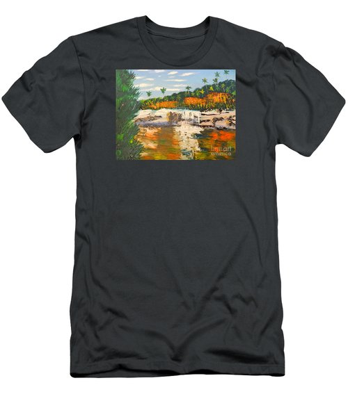 Adele Gorge At Lawn Hill National Park Men's T-Shirt (Athletic Fit)