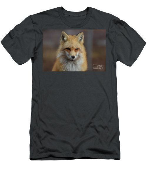 Adorable Red Fox Men's T-Shirt (Athletic Fit)