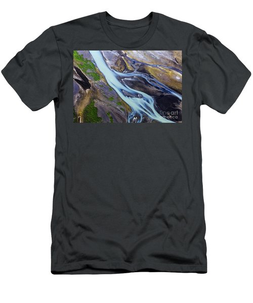 Aerial Photo Of Iceland  Men's T-Shirt (Athletic Fit)