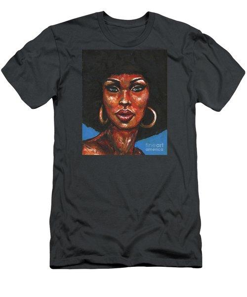 Men's T-Shirt (Slim Fit) featuring the painting Well Hello by Alga Washington