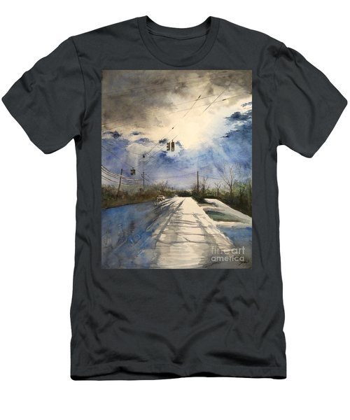 After Rain -on The Michigan Ave. Saline Michigan Men's T-Shirt (Athletic Fit)