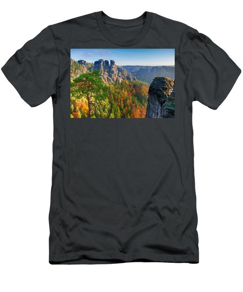 After The Sunrise On The Bastei Men's T-Shirt (Athletic Fit)