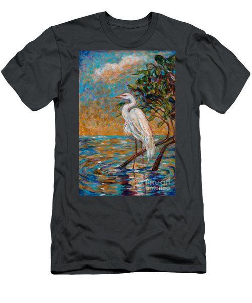 Afternoon Egret Men's T-Shirt (Athletic Fit)