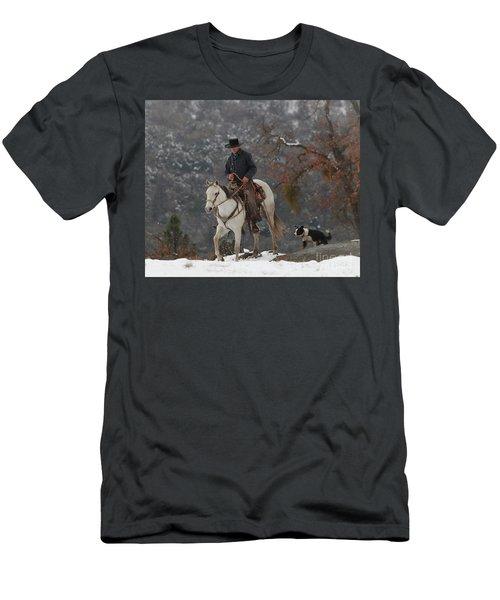 Ahwahnee Cowboy Men's T-Shirt (Slim Fit) by Diane Bohna