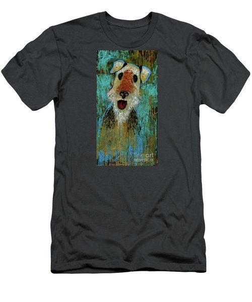 Airedale Terrier Men's T-Shirt (Slim Fit) by Genevieve Esson