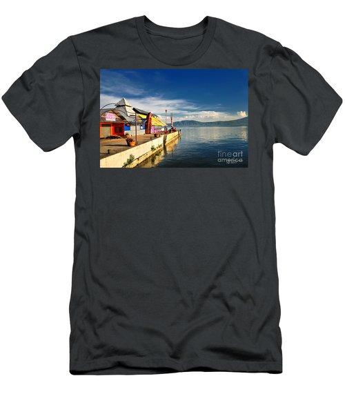 Ajijic Pier - Lake Chapala - Mexico Men's T-Shirt (Athletic Fit)