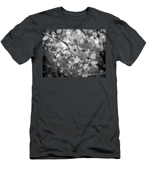Men's T-Shirt (Slim Fit) featuring the photograph Akebono In Monochrome by Peggy Hughes