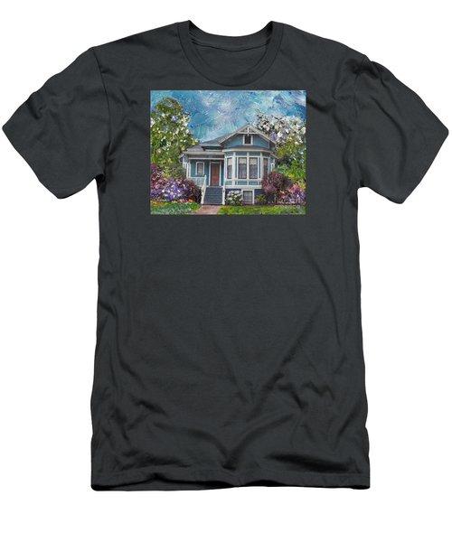 Alameda 1884 - Eastlake Cottage Men's T-Shirt (Slim Fit) by Linda Weinstock