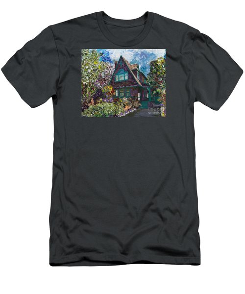 Alameda 1907 Traditional Pitched Gable - Colonial Revival Men's T-Shirt (Slim Fit) by Linda Weinstock