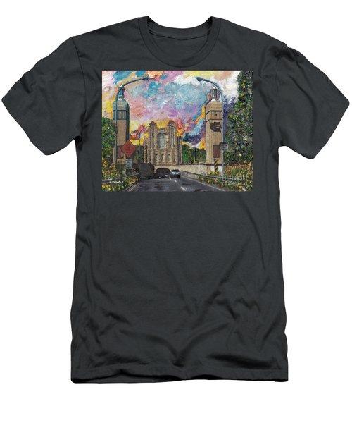 Alameda Webster Posey Tube Portal 1928 Men's T-Shirt (Slim Fit) by Linda Weinstock