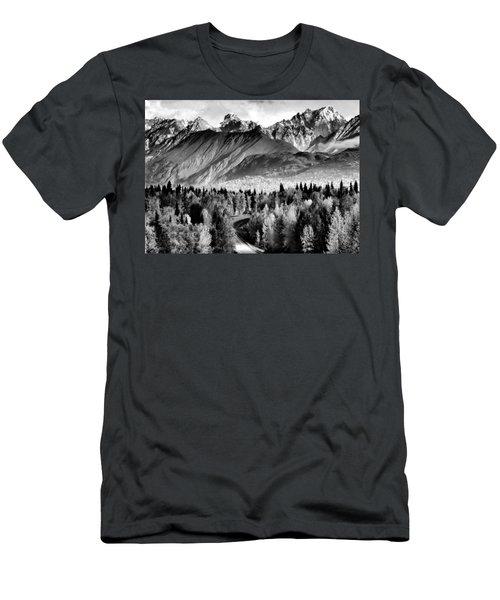Alaskan Mountains Men's T-Shirt (Athletic Fit)