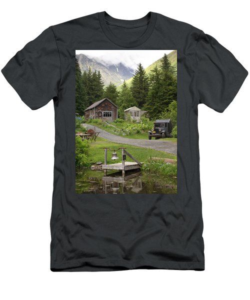 Alaskan Pioneer Mining Camp Men's T-Shirt (Athletic Fit)