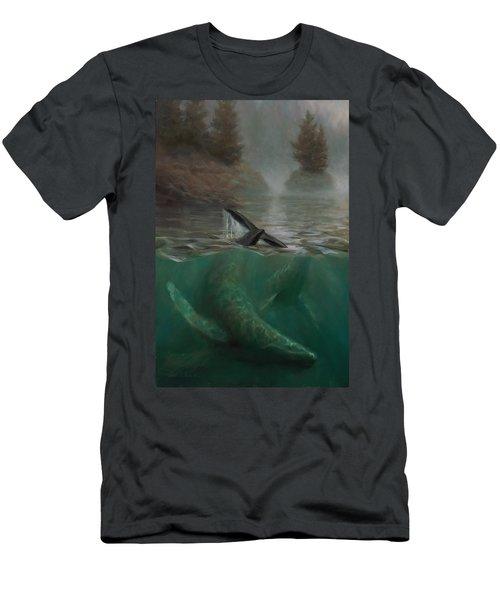 Humpback Whales - Underwater Marine - Coastal Alaska Scenery Men's T-Shirt (Athletic Fit)