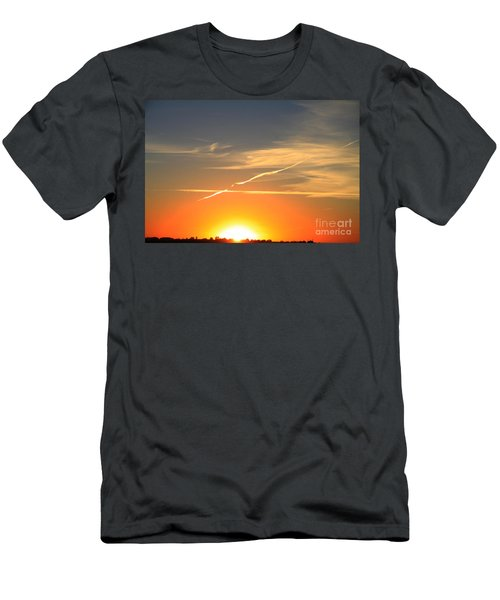 Alberta Sunset Men's T-Shirt (Slim Fit) by Alyce Taylor
