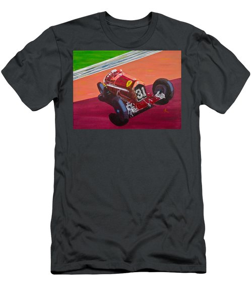 Alfa Romeo Tipo B P3  Men's T-Shirt (Slim Fit) by Anna Ruzsan