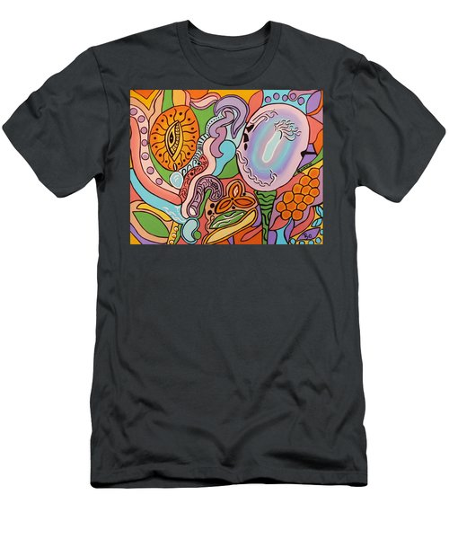 All Seeing Egg Salad Men's T-Shirt (Slim Fit) by Barbara St Jean