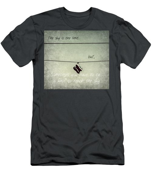 Men's T-Shirt (Slim Fit) featuring the photograph All Tied Up Inspirational by Melanie Lankford Photography