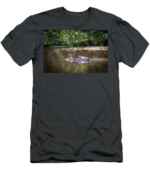 Alligator Swimming In Bayou 1 Men's T-Shirt (Athletic Fit)