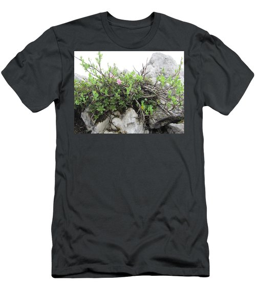 Men's T-Shirt (Slim Fit) featuring the photograph Alpine Beauty by Pema Hou