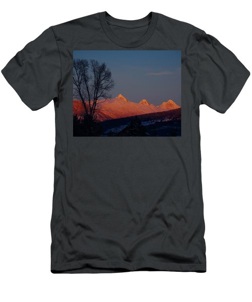 Men's T-Shirt (Slim Fit) featuring the photograph Alpenglow by Raymond Salani III