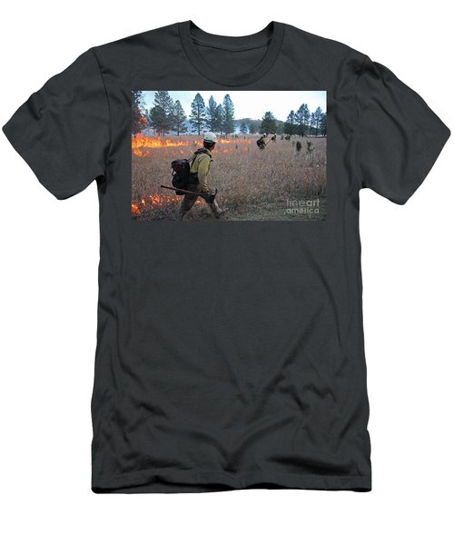Alpine Hotshots Ignite Norbeck Prescribed Fire Men's T-Shirt (Athletic Fit)