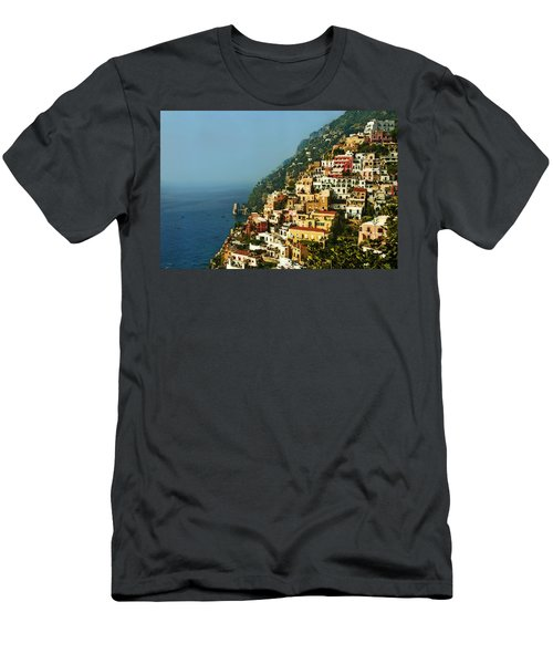 Amalfi Coast Hillside II Men's T-Shirt (Slim Fit) by Steven Sparks