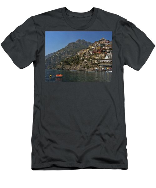 Men's T-Shirt (Slim Fit) featuring the photograph Amalfi View by Andrew Soundarajan