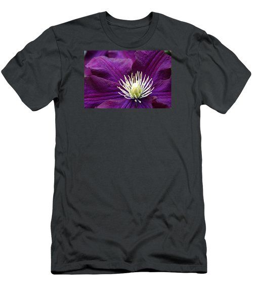 Amethyst Colored Clematis Men's T-Shirt (Athletic Fit)