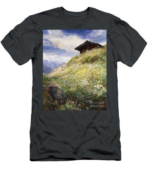 An Alpine Meadow Switzerland Men's T-Shirt (Athletic Fit)