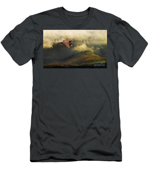 Men's T-Shirt (Slim Fit) featuring the photograph An Eagle Over Cumbria by Meirion Matthias