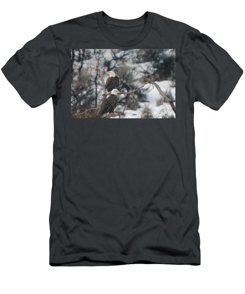 An Eagle Pair  Men's T-Shirt (Athletic Fit)