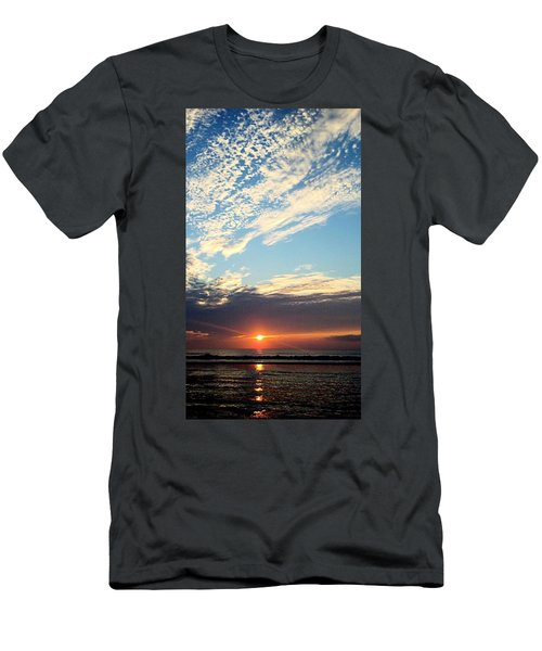 Men's T-Shirt (Athletic Fit) featuring the photograph An Ocean And A Sunrise by Tyson Kinnison