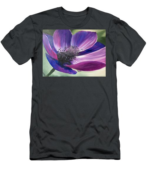 Anemone Coronaria Men's T-Shirt (Athletic Fit)
