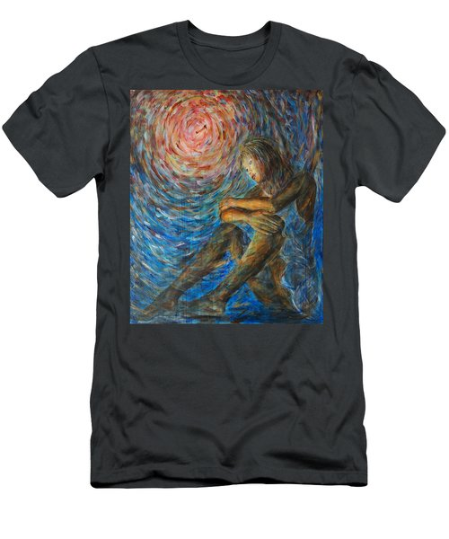Angel Moon I Men's T-Shirt (Athletic Fit)