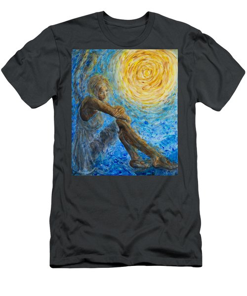Angel Moon II Men's T-Shirt (Athletic Fit)