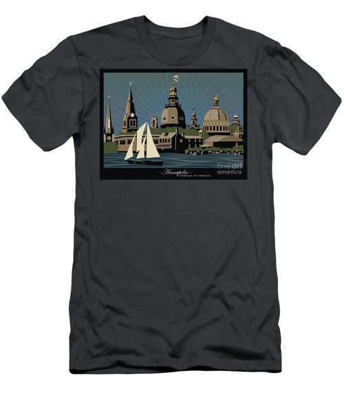 Annapolis Steeples And Cupolas Serenity With Border Men's T-Shirt (Athletic Fit)