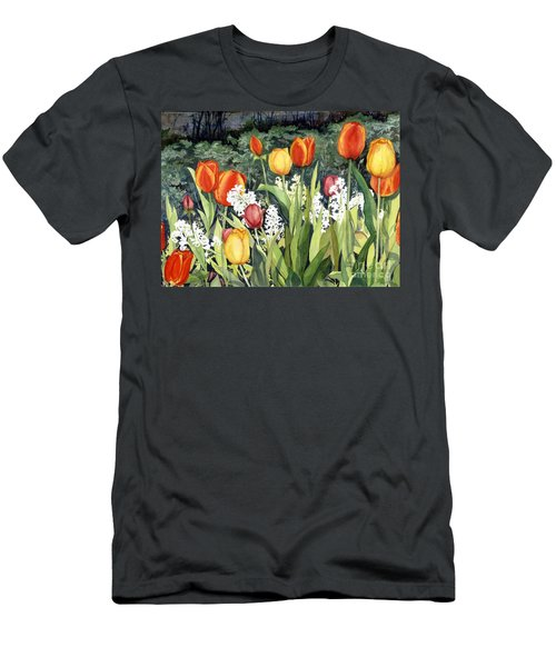Ann's Tulips Men's T-Shirt (Athletic Fit)