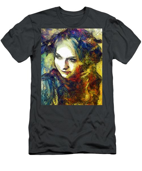 Men's T-Shirt (Slim Fit) featuring the drawing Another Lonely Day by Joe Misrasi