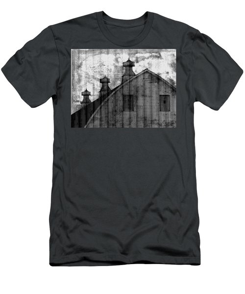 Antique Barn - Black And White Men's T-Shirt (Athletic Fit)