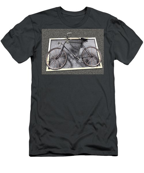 Antique Bicycle  Men's T-Shirt (Slim Fit) by Joyce  Wasser