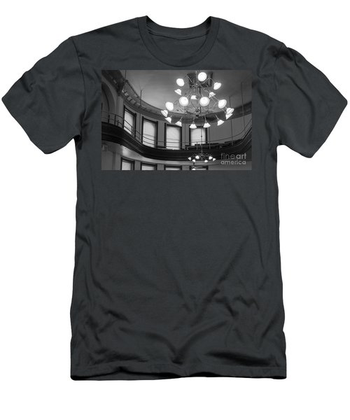 Antique Chandelier In Old Courtroom Men's T-Shirt (Athletic Fit)