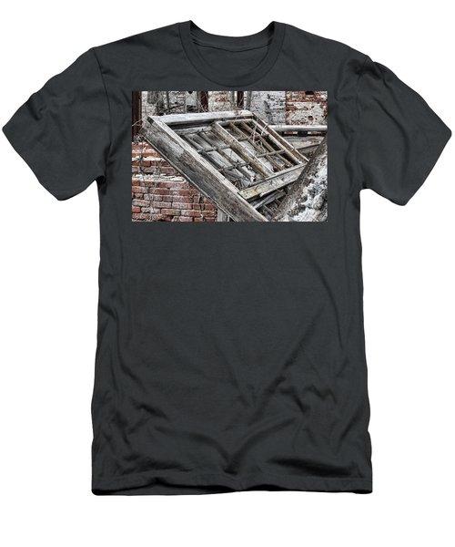 Antique Wood Window Men's T-Shirt (Athletic Fit)