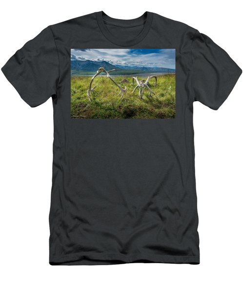 Antlers On The Hill Men's T-Shirt (Athletic Fit)