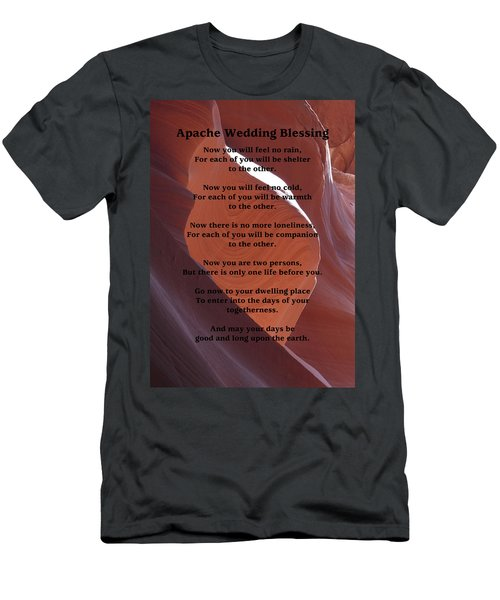 Apache Wedding Blessing On Canyon Photo Men's T-Shirt (Slim Fit) by Marcia Socolik