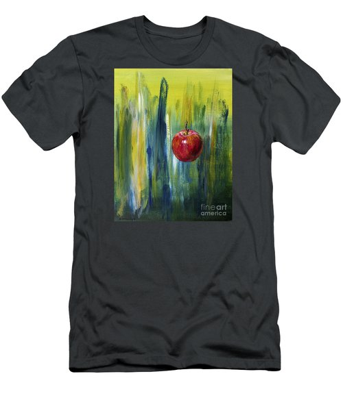 Men's T-Shirt (Slim Fit) featuring the painting Apple by Arturas Slapsys