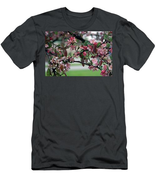 Men's T-Shirt (Slim Fit) featuring the photograph Apple Blossom Time by Kay Novy