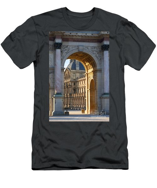 Men's T-Shirt (Athletic Fit) featuring the photograph Arc De Triomphe Du Carrousel by Brian Jannsen