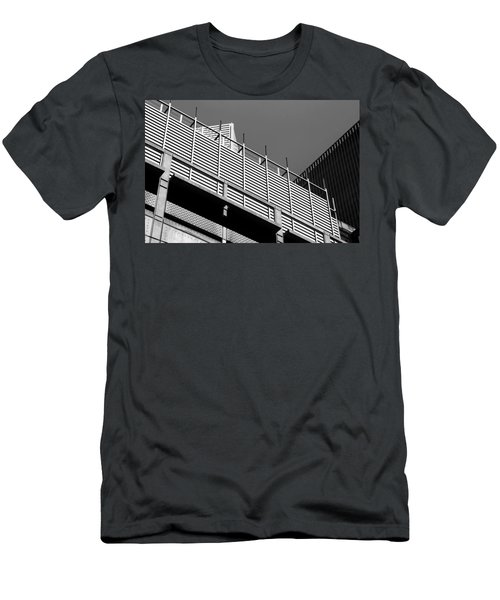 Architectural Lines Black White Men's T-Shirt (Athletic Fit)